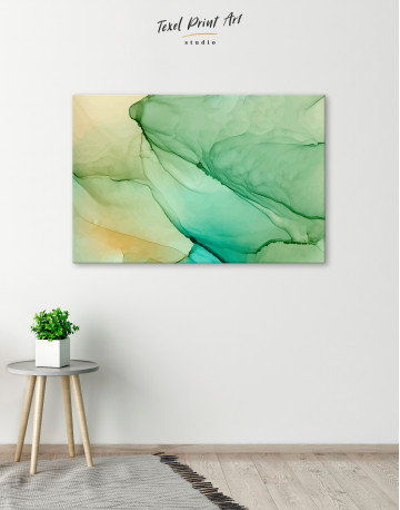 Light Green Abstract Painting Canvas Wall Art - image 6