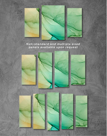 Light Green Abstract Painting Canvas Wall Art - image 5