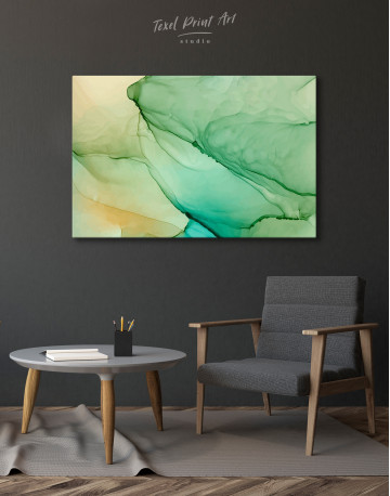 Light Green Abstract Painting Canvas Wall Art - image 4
