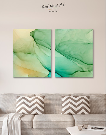 Light Green Abstract Painting Canvas Wall Art - image 10