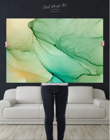 Light Green Abstract Painting Canvas Wall Art - image 9