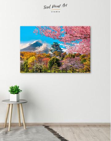 Japan Temple Fuji Mountain Landscape Canvas Wall Art - image 4