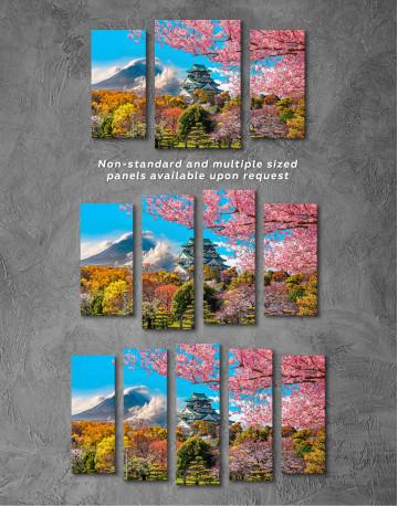 Japan Temple Fuji Mountain Landscape Canvas Wall Art - image 3