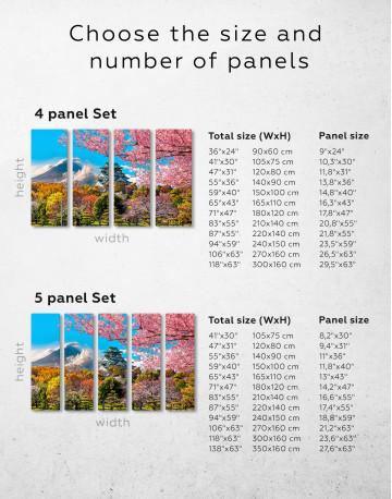 Japan Temple Fuji Mountain Landscape Canvas Wall Art - image 10