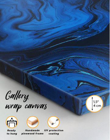 Deep Blue Abstract Painting Canvas Wall Art - image 8
