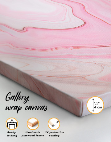 Pink Abstract Painting Canvas Wall Art - image 3
