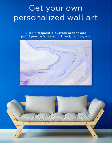 Pink Abstract Painting Canvas Wall Art - image 5