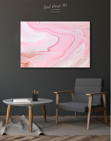 Pink Abstract Painting Canvas Wall Art - image 7