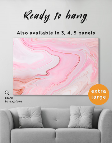 Pink Abstract Painting Canvas Wall Art - image 8