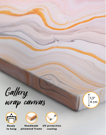 Cream and Orange Abstract Canvas Wall Art - image 8