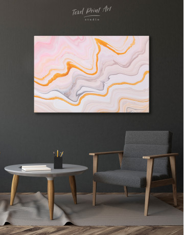 Cream and Orange Abstract Canvas Wall Art - image 6
