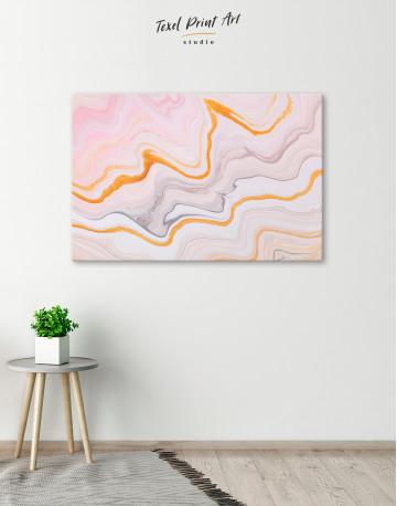 Cream and Orange Abstract Canvas Wall Art - image 5