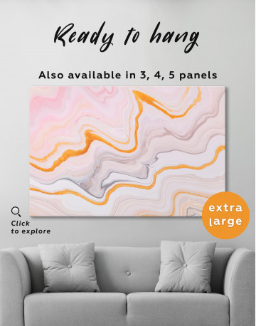 Cream and Orange Abstract Canvas Wall Art - image 3