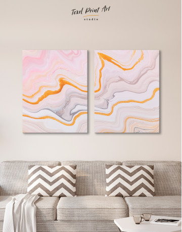 Cream and Orange Abstract Canvas Wall Art - image 10