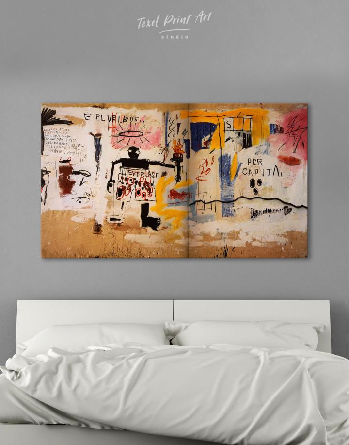 Jean Michel Basquiat Per Capita Graffiti Canvas Wall Art - Image 3