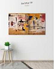 Jean Michel Basquiat Per Capita Graffiti Canvas Wall Art