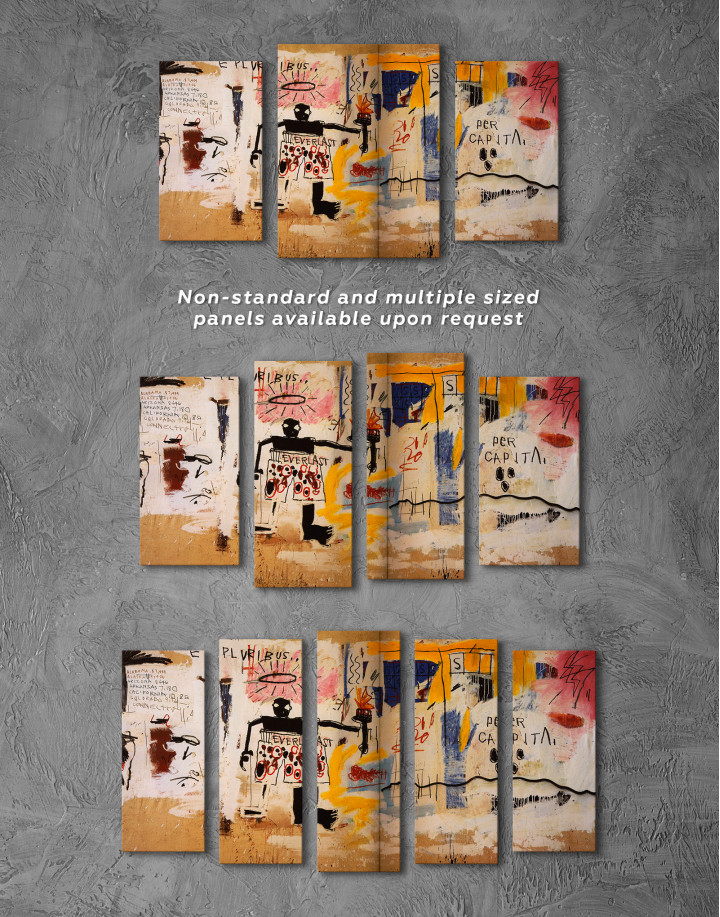 Jean Michel Basquiat Per Capita Graffiti Canvas Wall Art - Image 6