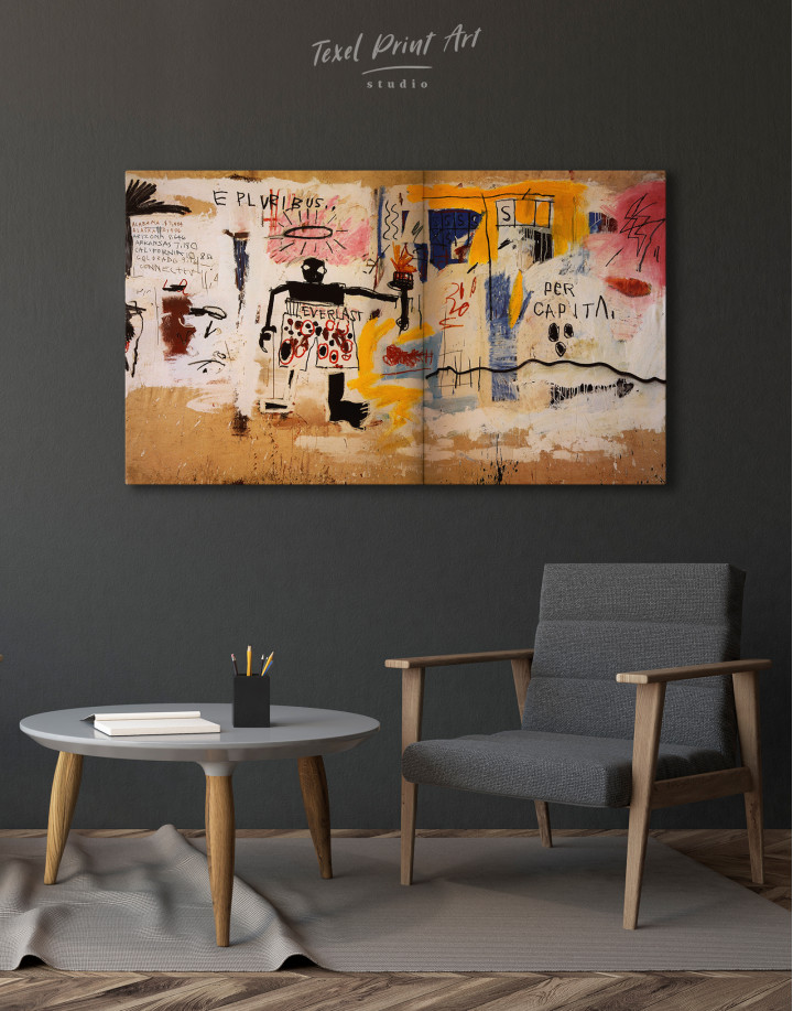 Jean Michel Basquiat Per Capita Graffiti Canvas Wall Art - Image 2