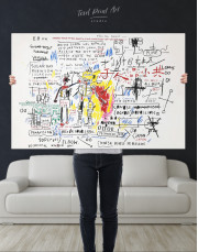 Boxer Rebellion by Basquiat Canvas Wall Art - Image 4