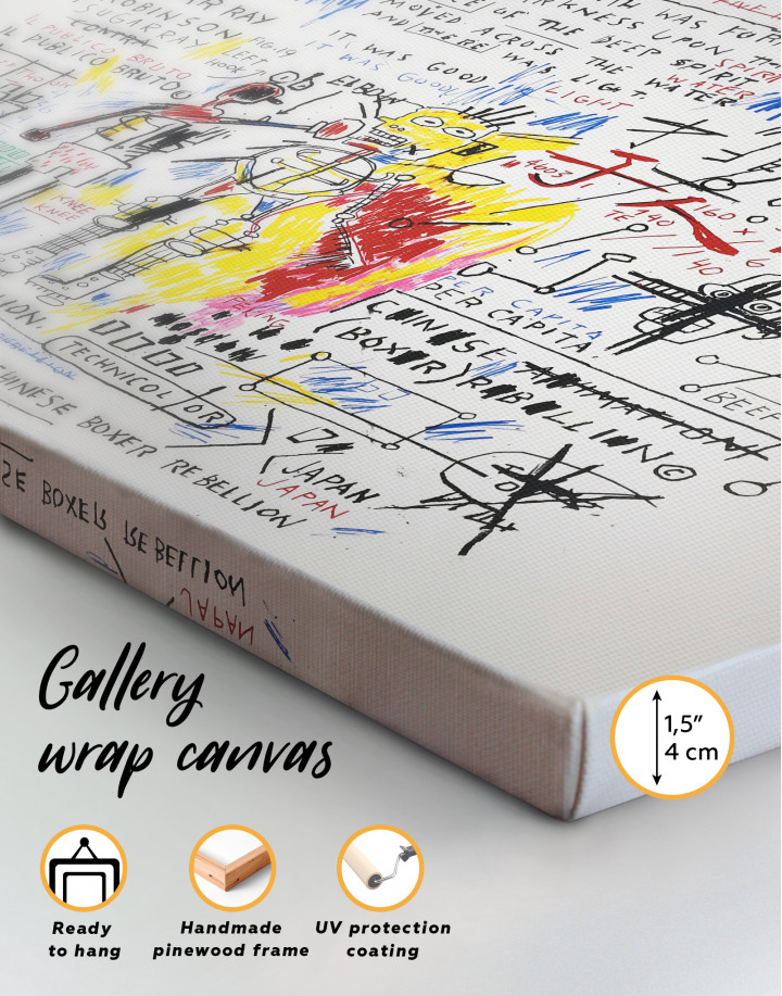 Boxer Rebellion by Basquiat Canvas Wall Art - Image 3