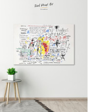 Boxer Rebellion by Basquiat Canvas Wall Art - Image 1