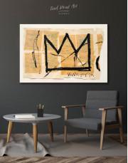 Basquiat Crown Canvas Wall Art