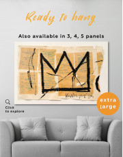 Basquiat Crown Canvas Wall Art - Image 2