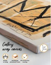 Basquiat Crown Canvas Wall Art - Image 1