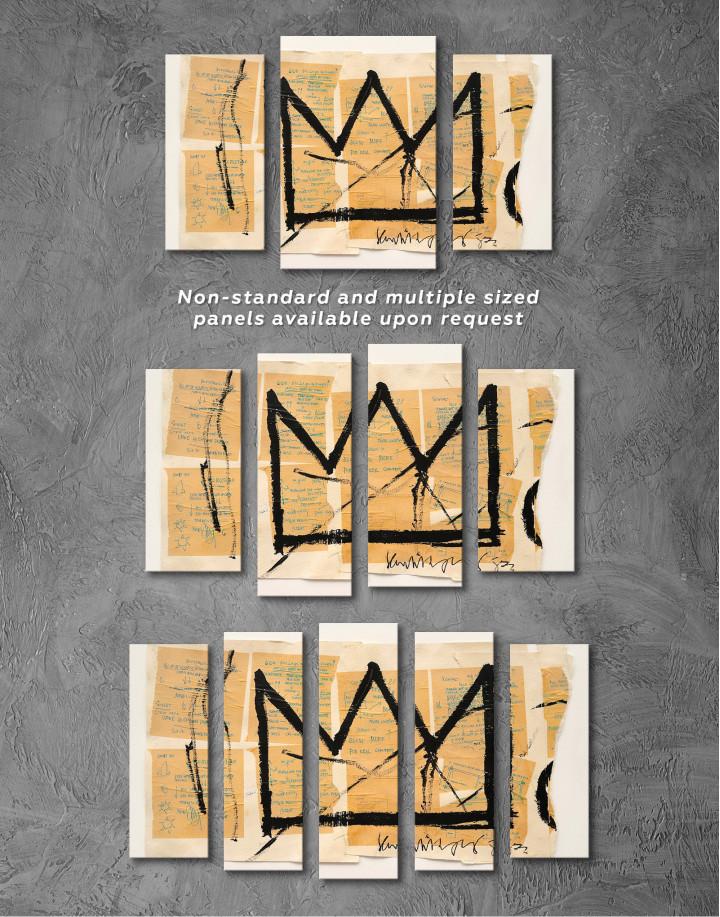Basquiat Crown Canvas Wall Art - Image 5