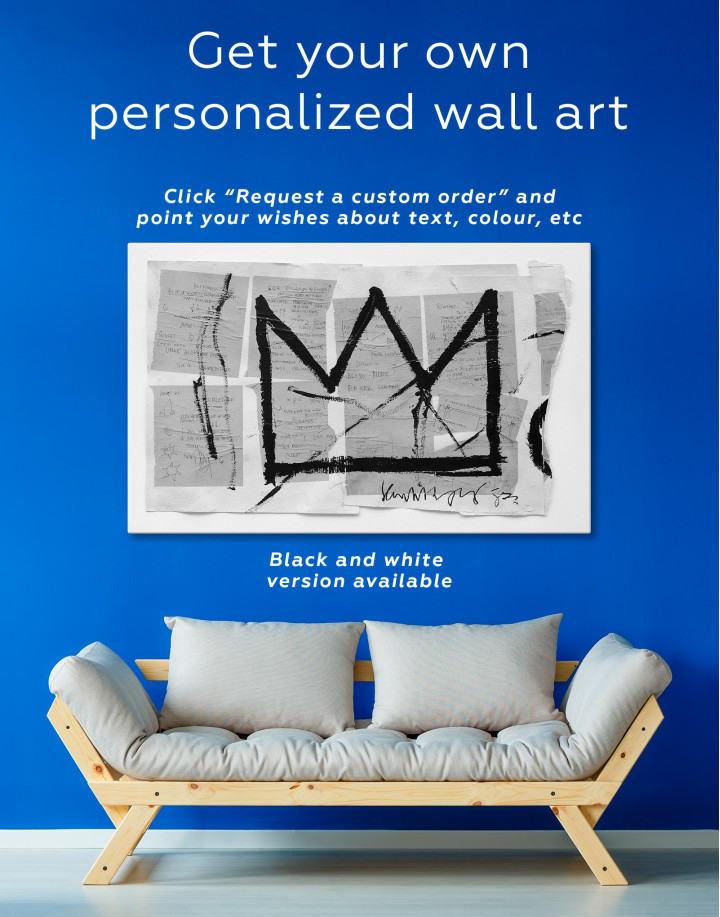 Basquiat Crown Canvas Wall Art - Image 6