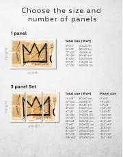 Basquiat Crown Canvas Wall Art - Image 3