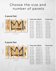 Basquiat Crown Canvas Wall Art - Image 4