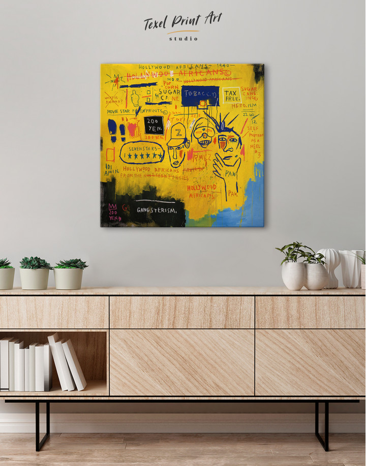 Hollywood African by Jean Michel Basquiat Canvas Wall Art - Image 2