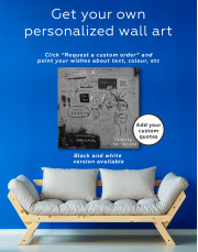 Hollywood African by Jean Michel Basquiat Canvas Wall Art - Image 5
