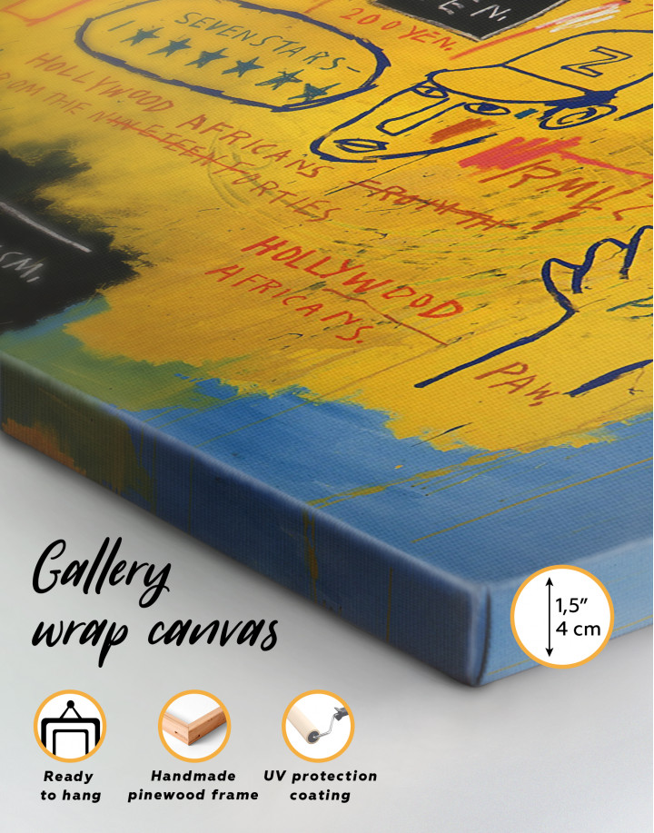 Hollywood African by Jean Michel Basquiat Canvas Wall Art - Image 6