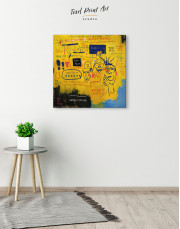 Hollywood African by Jean Michel Basquiat Canvas Wall Art - Image 1