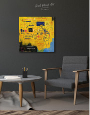 Hollywood African by Jean Michel Basquiat Canvas Wall Art - Image 3