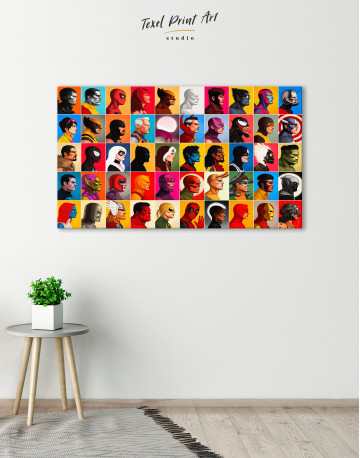 All Marvel Super Heroes Canvas Wall Art - image 3