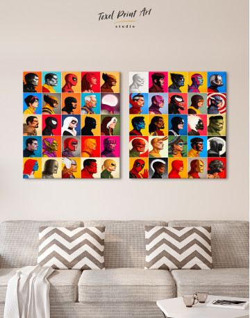 All Marvel Super Heroes Canvas Wall Art - image 9