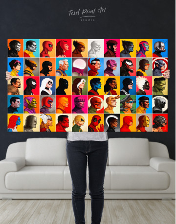 All Marvel Super Heroes Canvas Wall Art - image 8