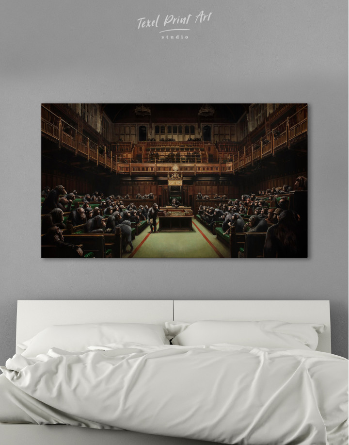 Banksy Devolved Parliament Canvas Wall Art - Image 8