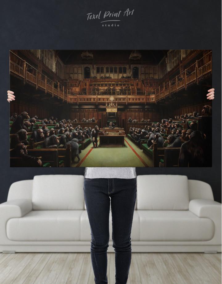 Banksy Devolved Parliament Canvas Wall Art - Image 6