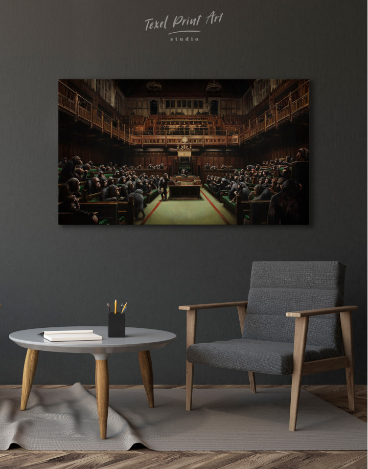 Banksy Devolved Parliament Canvas Wall Art - Image 7