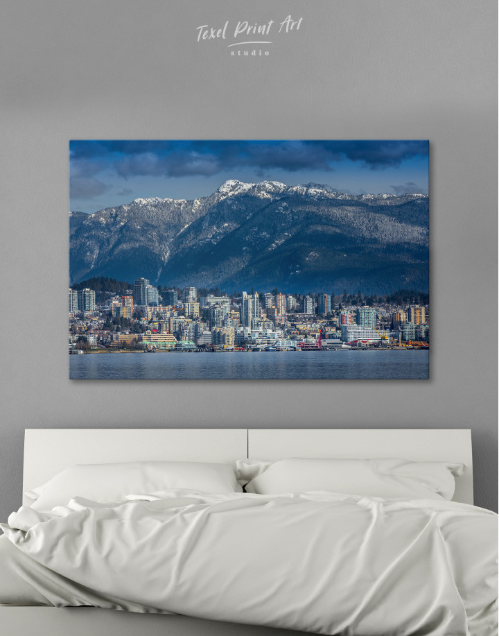 Vancouver North Shore Mountains Canvas Wall Art