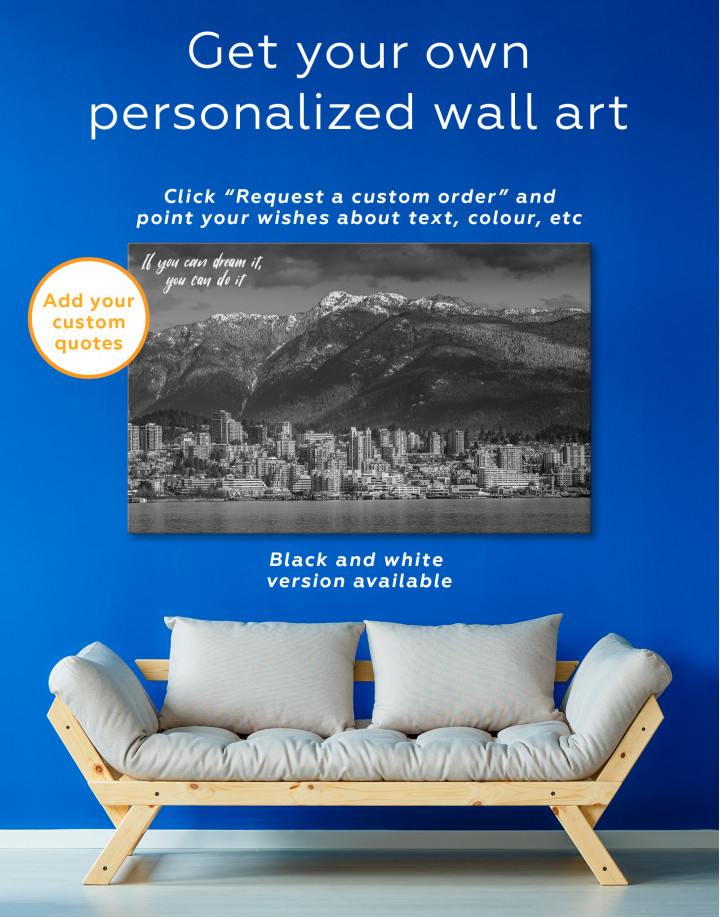 Vancouver North Shore Mountains Canvas Wall Art - Image 7