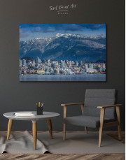 Vancouver North Shore Mountains Canvas Wall Art - Image 4