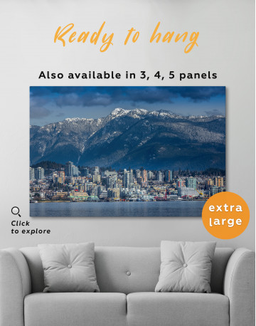 Vancouver North Shore Mountains Canvas Wall Art - image 5