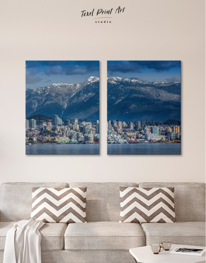 Vancouver North Shore Mountains Canvas Wall Art - Image 2