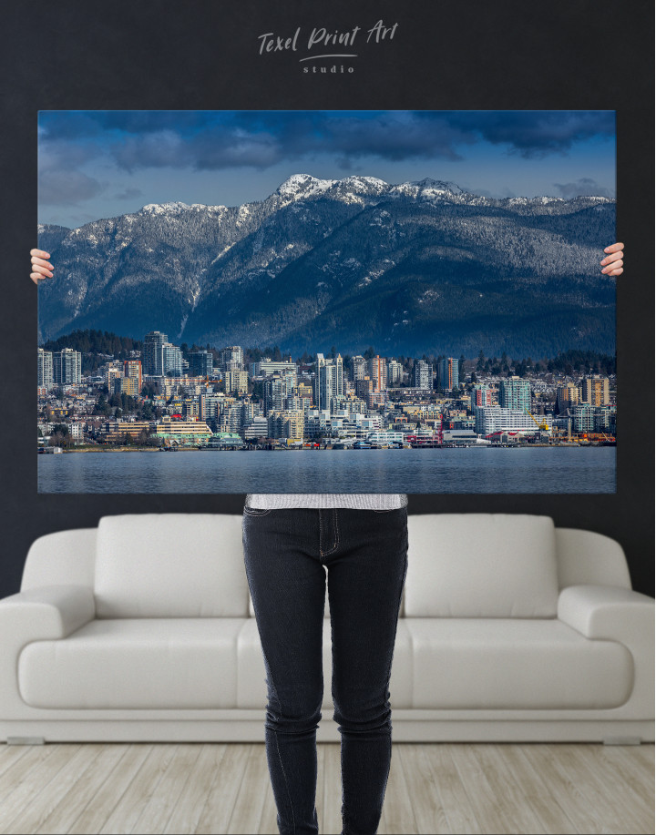 Vancouver North Shore Mountains Canvas Wall Art - Image 1
