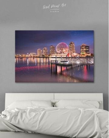 Science World Museum Vancouver Cityscape Canvas Wall Art